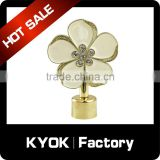 KYOK 2016 rolling curtain pole accessories,chromed window accessories wholesale