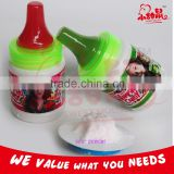 Sour powder candy fruit hard candy with nipple shape bottle                                                                         Quality Choice