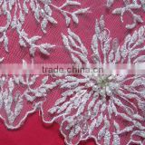 Rhinestones Beaded Fabric Lace Manufacture