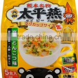 Japanese popular KUMAMON Bean thread noodle soup 'Tonkotsu' pork bone soup flavour with mustard green pickles 5 servings