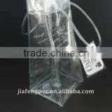 High Quality and inexpensive,Waterproof PVC Cooler Bag with Hang-tag as Wine Bottle Holder