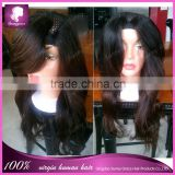 "Hot sale 100% virgin hair Brazilian remy human hair u part wig right side u part 1*3"" in stock"