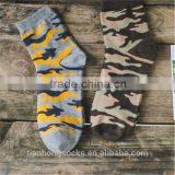 New arrival Camouflage pattern man socks leisure short socks chaep wholesale