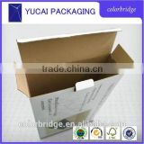 printed one layer corrugated Electric shave paper box,OEM printing brown kraft paper box made in china