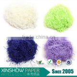 Various colors paper raffia ribbon shred for decoration gift basket pack