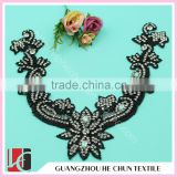 HC-0155 Accepct OEM Rhinestone Appliques for Kids Clothing/A Class Crystal Beaded Collars Trim