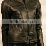 Women Motorbike Leather Jacket/Motorcycle Biker Jacket For women/Racing wear