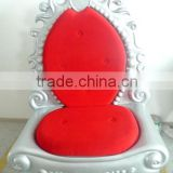 FRP Christmas Santa Throne Fiberglass King Throne for Christmas Shopping Mall Decoration