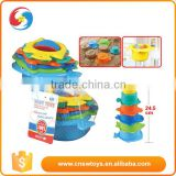 Baby Intelligence toy colorful plastic speed stacking cups