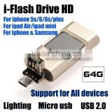 Timiya 3 in1 iFlash Driver Micro/ 8Pin USB 2.0 i-Flash Driver for iPhone for Android Smartphones Tablets Windows PC