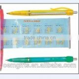 Hot Plastic Advertising Ball Pen with Flyer Calendar