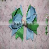Fish cutting grosgrain ribbon bow with clip,ribbon hair bow