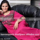 Ladies pink color stylish evening dresses & Embroidered kaftans / beautiful evening dress 2015