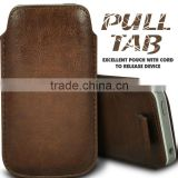 Wallytech Soft PU Leather Pull TAB Slip Pouch Case Cover For Samsung Galaxy S4 I9500 Pull Leather Case