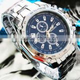 2013 stainless steel watch alloy quartz analog hang watch
