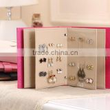 Jewellery Boxes Fahion Jewelry Manufacturer Dongguan Colorful DIY Leather Book Earrings Storage Box