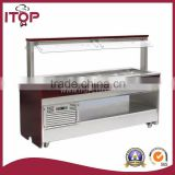 commercial refrigerated counter top salad bar