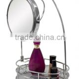 8.5'' LED Double Sided 3x Zoom Table Basket Mirror
