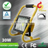 LED rechargeable 30w light 11.1 volt LED rechargeable flood light with working time 12 hours