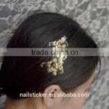 Custom Multi-application metallic tattoo with rhinestone gold crystal hair tattoo stickers