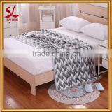 Cotton Knitted Chevroned Throw Soft Warm Cover Blanket Chevron Knitting Pattern 47 by 70 Inches
