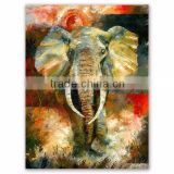2016 Newest design african animal artwork modern abstract elephant oil painting on canvas