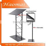Lecture Podium Is Made Of Steel And Polished Black,steel metal podium,metal podium,modern podium