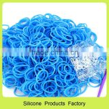 silicon rubber women chain braided bracelet and diy wristband