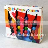 Eco-Friendly Stationary Cute Multi Color Custome Shape Plastic Finger Crayons for Kids