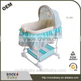 cheap price baby cradle ASTM baby bassinet with rocker