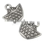 Zinc Alloy Jewelry Pendants Ingot antique silver color plated 14x13x5mm Hole:Approx 2mm Sold By PC