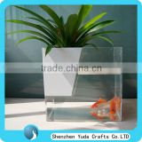 Multifunctional Acrylic Flowers Holder With Fish Tank Clear Acrylic Vases