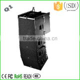 Dual 10 inch outdoor line array speaker cabinet Q1
