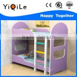 Guangzhou factory beautiful design playwood material kids bunk bed for sale