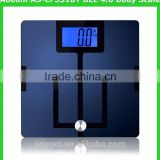 "For US market extra large scale with 4.3"" Blue backlit Bluetooth 4.0 body fat scale"