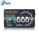China Wholesale 5.5 Inch A8 HUD Display for Car OBD II Car Speed Alarm Car HUD Head Up Display