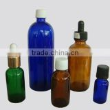 essential oil colorful glass bottles