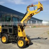 AS908 Compact wheel loader CS908 hydrostatic with 4-way quick hitch and variable piston pump