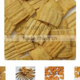 Fried Flour snack food Crispy chip extruder machine process line from Jinan dayi machinery