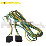 "S20808 New 12"" Trailer Light Wire Harness 4-Way Flat Wiring Connector Extension"