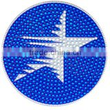 Custom Bling Blue Gem Stone Sticker Crystal Star Rhinestone Self-adhesive Sticker Glitter Acrylic Stick Decorative For Promotion