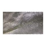 Shiny Silver Double Knit Wool Fabric , Soft Printed Undercoat Velvet Cloth