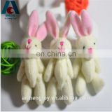 cute small rabbit plush toy pink ears joint rabbit toys