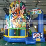 Popular mickey inflatable bouncer castle blue baby bouncer inflatable castle slide for sale