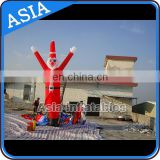 Red santa inflatable air man dancer / inflatable sky dancer for christmas