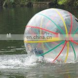 water walking ball with colored strips