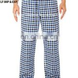 Cotton Flannel Pajama Lounge Pants- Blue/White/Black Small Checks