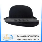 High quality wool felt black derby bowler hats mens
