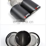 High Quality Custom Akrapovic Carbon Fiber exhaust tail pipe car muffler tips with ss304 clamp