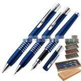 3 in 1metal pens stationery set including ballpen/mechanical pencil/fountain pen with gift box RB170878